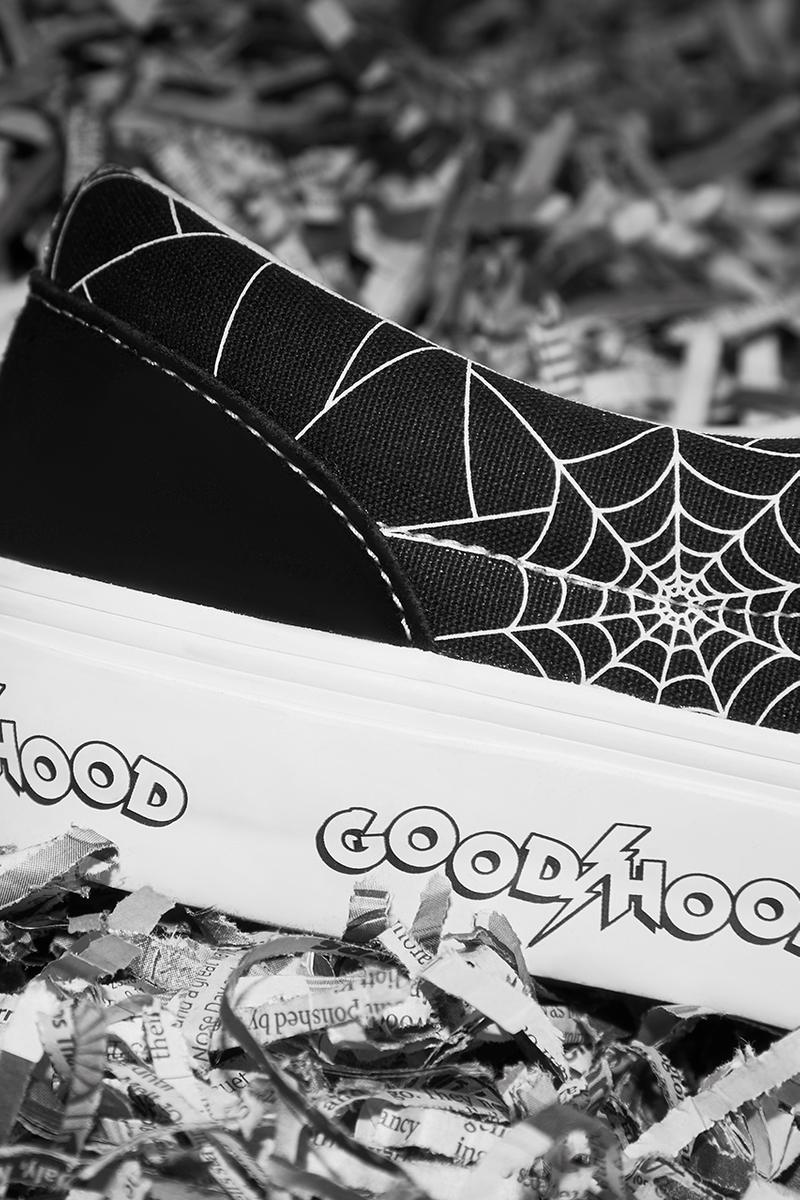 goodhood vans era og lx slip on sk8 mid love in the time of chaos black white punk spider web lightning bold buy cop purchase register now release details information first look