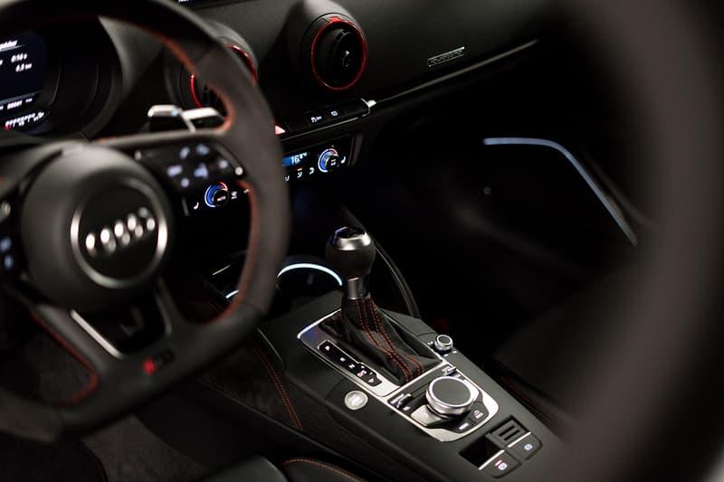 ABT Sportsline Audi RS3 2019-20 470 BHP 540 Nm of Torque 400 lb-ft 177 MPH Carbon Fiber Interior Exterior Upgrades New Exhaust Tips Wheels Matte Black Hot Hatch Supercar Performance Figures Speed Power