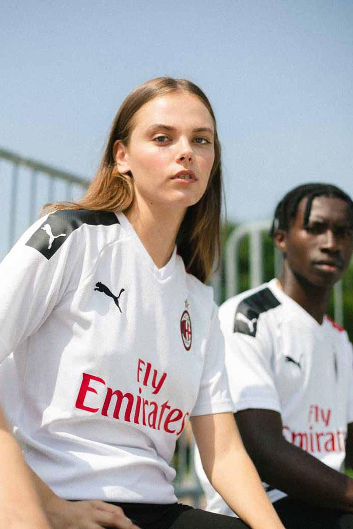 AC Milan Unveils Clean Away Kits for 2019/20 football soccer lookbooks Serie A