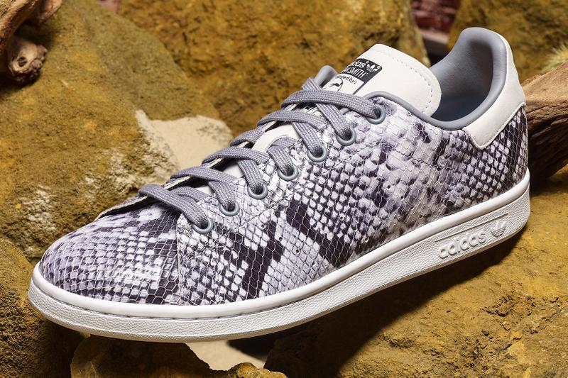 adidas Originals Snakeskin Embossed Pack Info stan smith adilette slides continental 80 summer colorway sneakers shoes