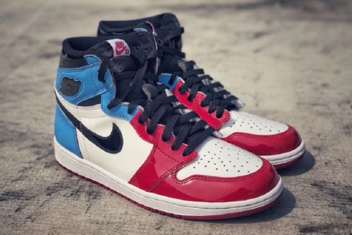 "Jordan Brand Blends Blue, Red, White & Black for the Air Jordan 1 High OG ""Fearless"""