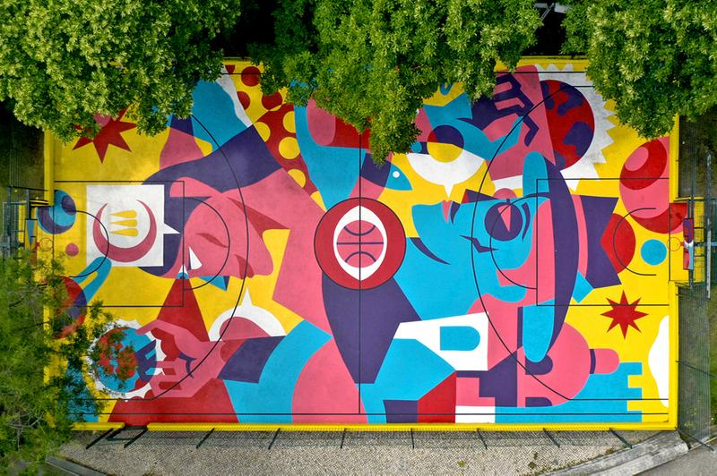 AkaCorleone Turns Basketball Court into Public Art Project