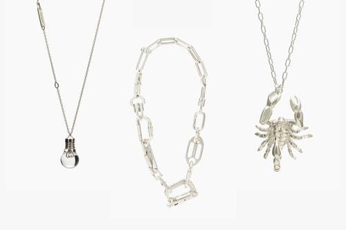 AMBUSH Drops Three Avant-Garde Silver Necklaces