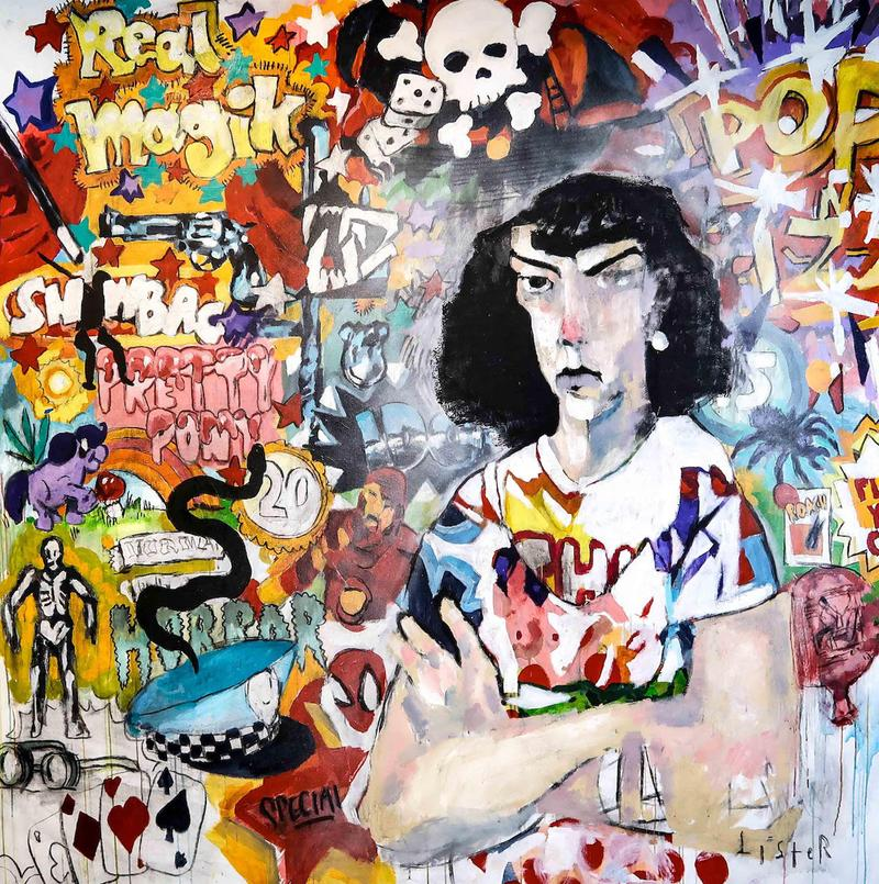 anthony lister culture is over exhibition artworks paintings sydney australia