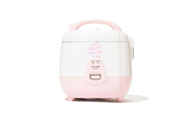 Anti Social Social Club x Cuckoo Rice Cooker home accessories neek lurk korea kitchen appliances