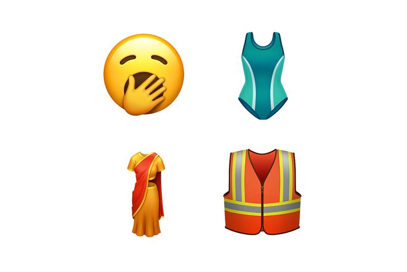 apple tech emojis customizable holding hands race gender ethnicity same sex disabled hearing aid deaf sign language wheel chair prosthetic arm leg guide dog food animal sari swim suit costume one piece falafel butter waffle garlic orangutan sloth skunk flamingo yawning smiley release information fall 2019