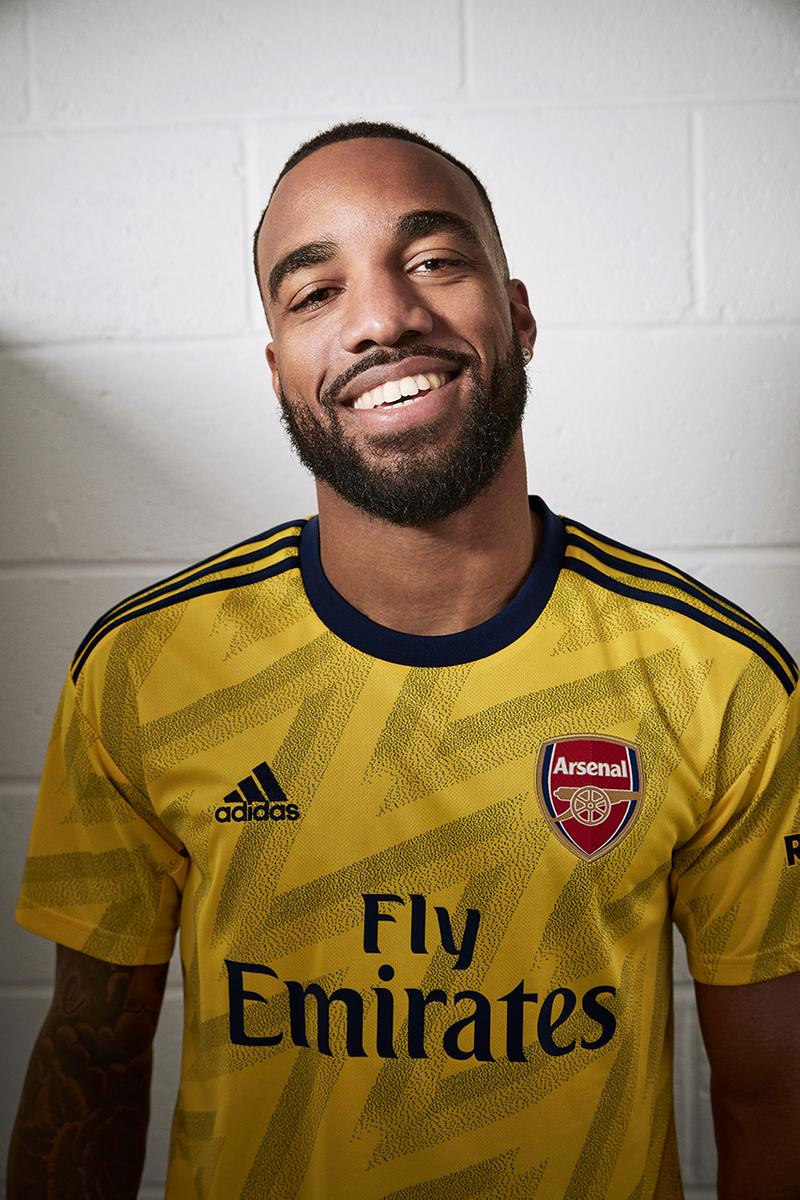 arsenal bruised banana 2019 2020 away jersey adidas football premier league europa release information ian wright guendouzi aubameyang lacazette reiss nelson james harden buy cop purchase pre order available online