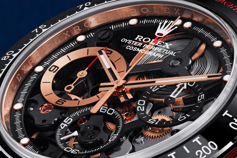 Rubens Barrichello Rolex Daytona Watch Artisans de Geneve 18K Rose Gold Black Ceramic Bezel 4130 Movement