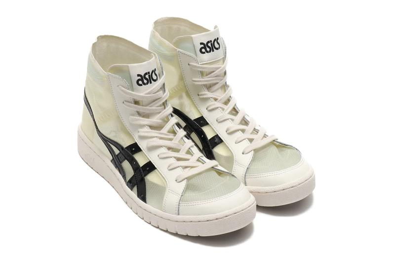 Asics GEL PTG NEXKIN White Black MT semi translucent atmos exclusive ghosting see through rubber side stripes socks color expression retro midsole cream color laces