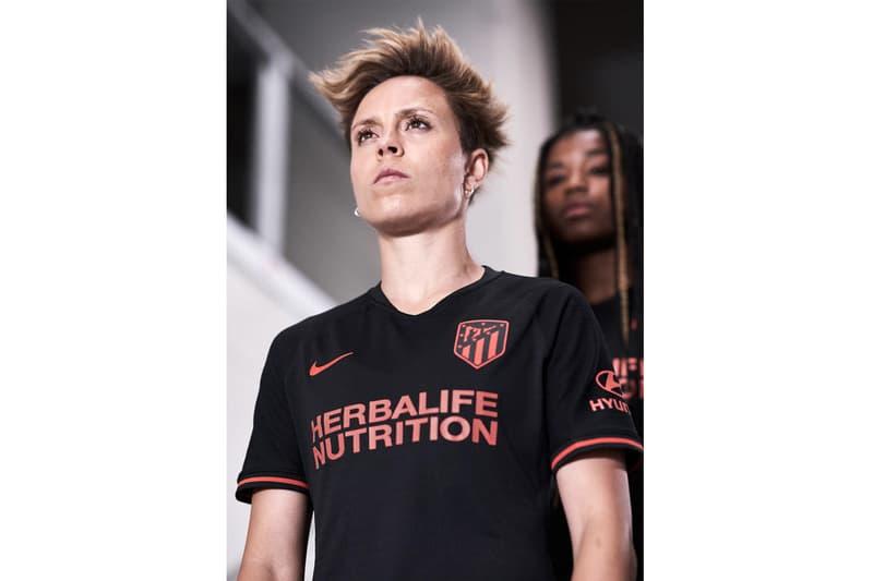Atlético Madrid's 2019/20 Away Kit nike soccer nike football black red la liga Spanish campions