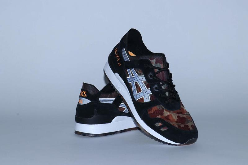 "atmos x ASICS GEL-Lyte III ""NEXKIN"" Collab Shoe sneaker release info date buy colorway august 3 2019 1191A339-100 101 exclusive camouflage"