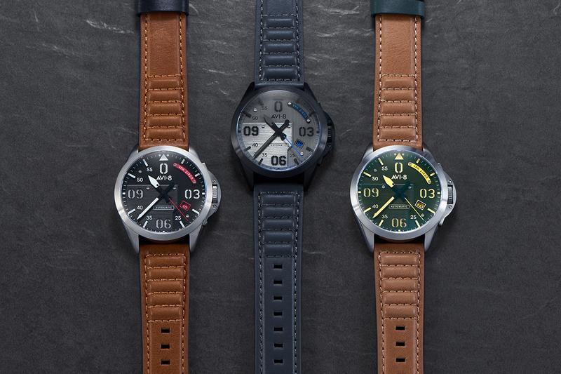 AVI-8 Create a P-51 Mustang Inspired Timepiece Fashion Watches Hand Made Aviation North American Leather Strap Detailing Hypebeast Streetwear
