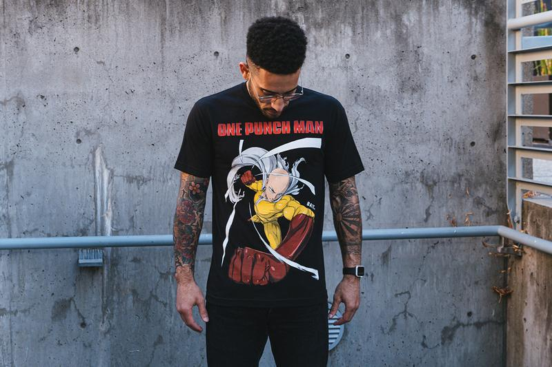BAIT x 'One-Punch Man' Saitama Capsule Collection T-Shirts Drop Online BAITme.com Chapter Stores Worldwide United States of America Anime Series Superhero Web Manga