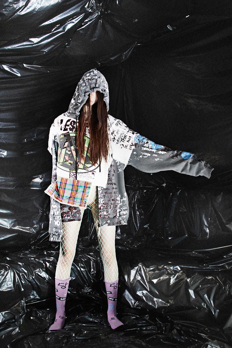 """99%IS- """"END N AND"""" SS20 Collection Lookbook Bajowoo korean fashion brand punk gopchang pants spring/summer 2020 grunge"""