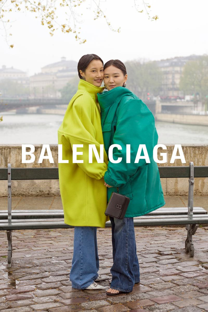 Balenciaga Fall/Winter 2019 Campaign Paris collection demna gvasalia Dresses Hoodies Jackets Jeans Blazers Turtlenecks Pink Blue Black Green Gray Plaid Red