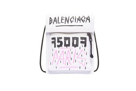 Balenciaga Drops Graffiti-Covered Explorer Neck Pouch