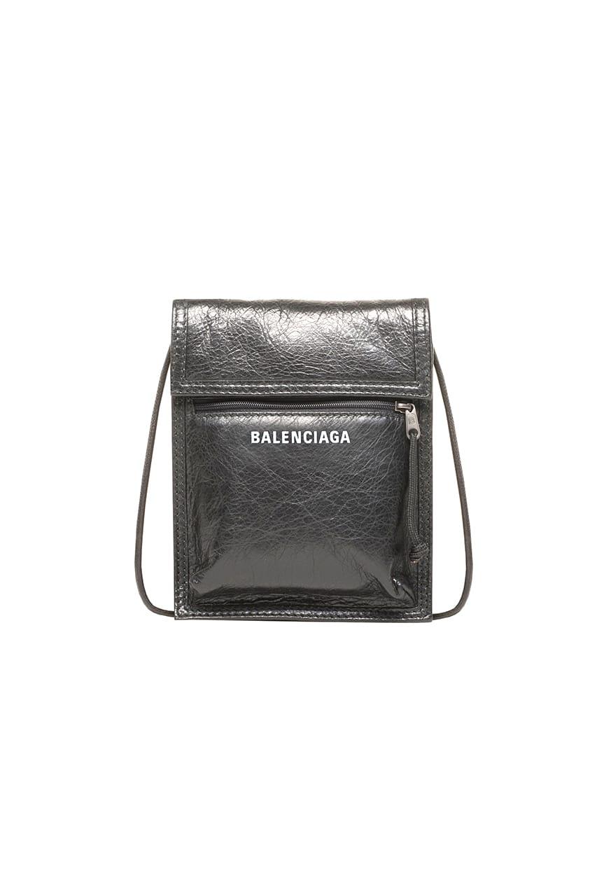 Balenciaga Leather Explorer Neck Pouch