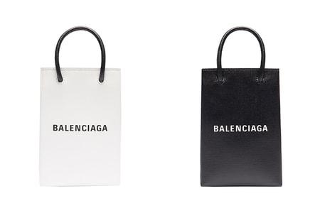 Balenciaga Drops Paper Bag-Inspired Smartphone-Carrying Totes