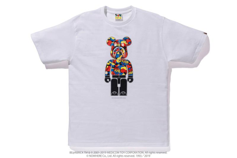 Medicom Toy x BAPE SS19 Capsule a bathing ape shark hoodie bearbrick t-shirts pillows accessories hoodies