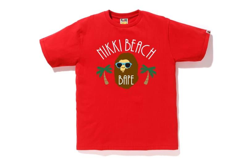 BAPE for Nikki Beach 2019 Exclusive Capsule a bathing ape beach party t-shirts graphics ape head nigo