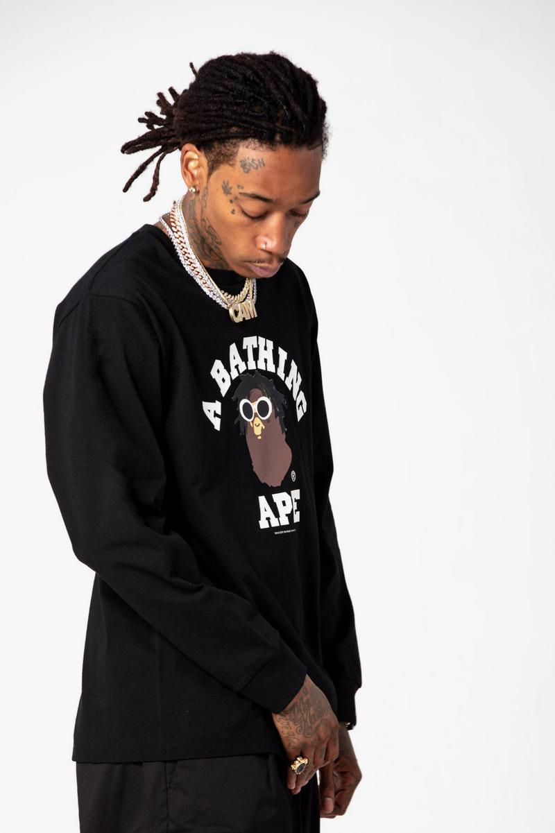 Wiz Khalifa x BAPE SS19 Collection a bathing ape spring summer 2019 lookbooks bape heads show concerts mankey baby milo