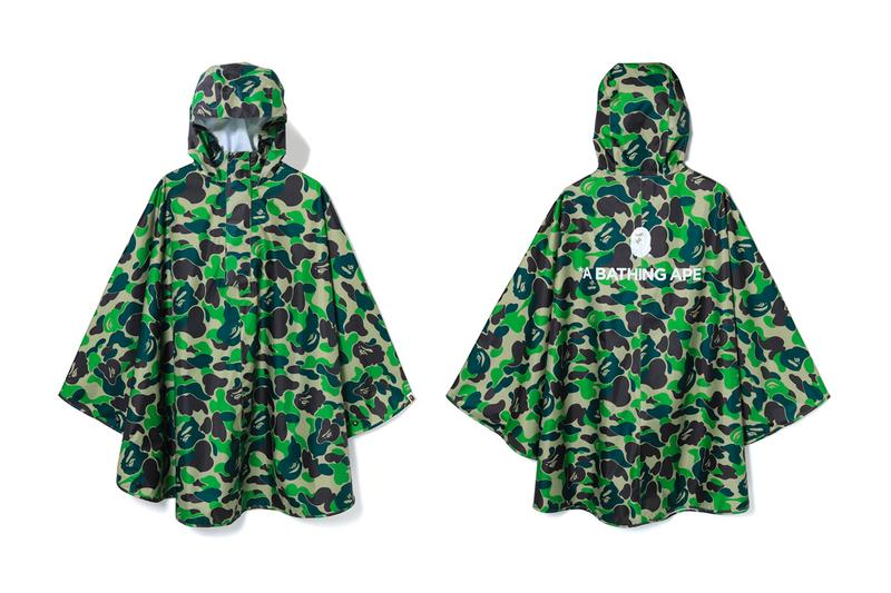 A Bathing Ape ABC CAMO Rain Poncho outwear rain jackets water repellant camo ABC Camo 1st Camo Nigo Japan Tokyo Camouflage