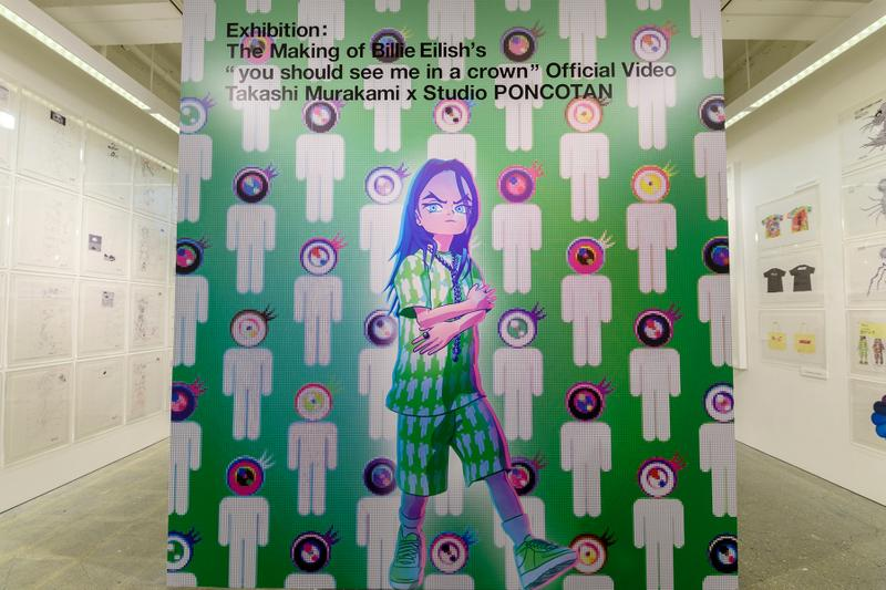 takashi murakami billie eilish you should see me in a crown animanga zingaro exhibition tokyo japan sculptures animations artworks