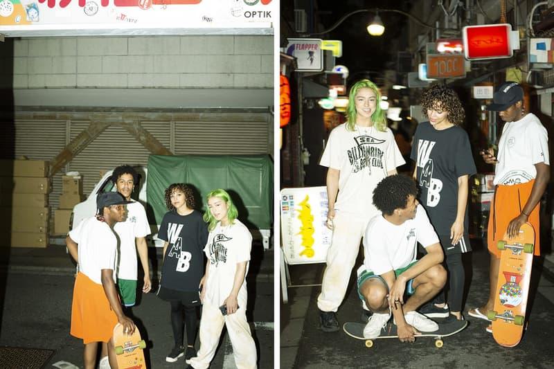 WIND AND SEA Billionaire Boys Club Capsule Pharrell Williams Takashi Kumagai graphic t shirts tees BBC Japan astronaut surf board Tokyo streetwear
