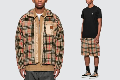 Cozy Up With Burberry's Vintage Check Faux Shearling Ensemble