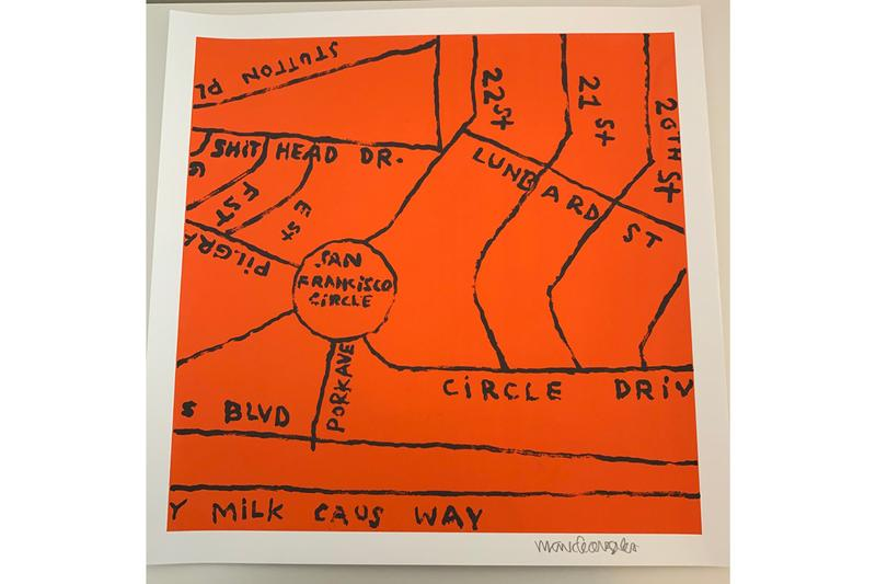 mark gonzales chandran gallery merchandise t shirt tee screenprint zine map drawings illustrations street art
