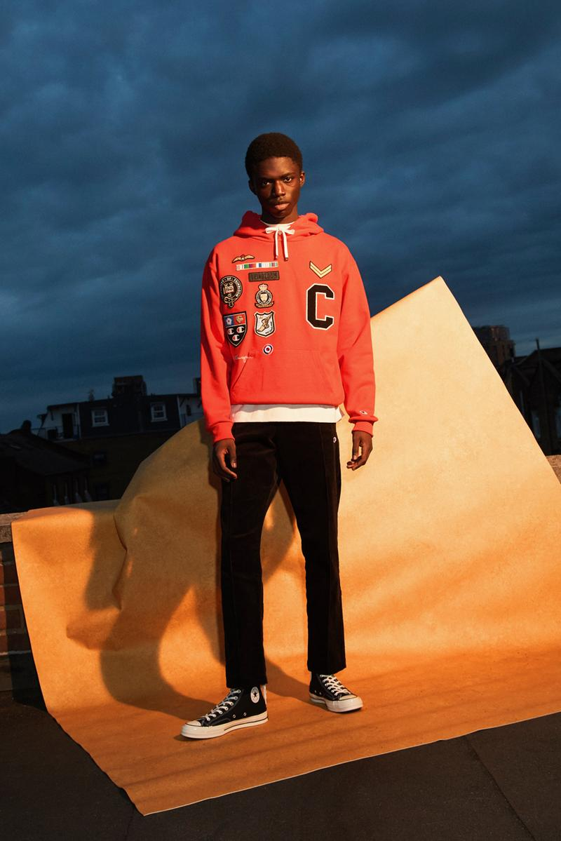 clothsurgeon Champion Fall/Winter 2019 Capsule Collection Varsity Jackets Sweaters Cardigans Letterman Hoodies Red Black White Yellow