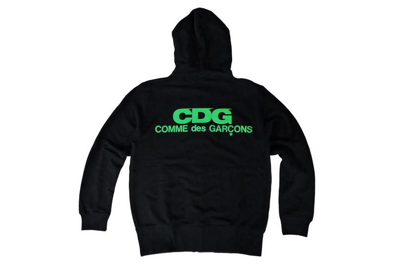 CDG Hoodies Jackets T-shirts tees backpacks comme des garcons new tokyo store marunouchi green pink orange