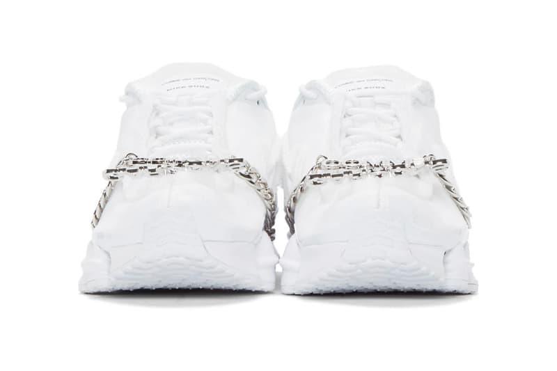 COMME des GARÇONS x Nike Shox TL sneaker where to buy price release 2019 black white