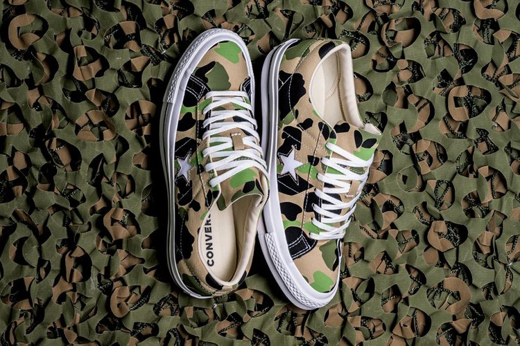 0ef018fa7d3a5 The Converse One Star Ox Gets Treated to Vibrant Duck Camo. Footwear