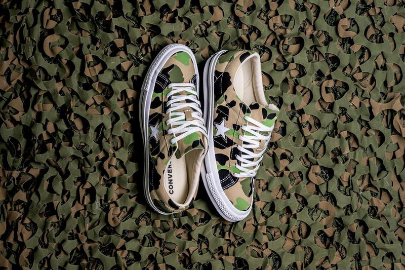 Converse One Star Ox Candied Ginger Piquant Green Release camo duck camo converse canvas sneaker shoe footwear