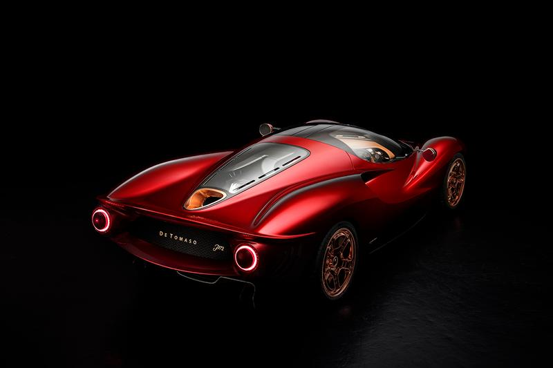 De Tomaso P72 Unveiling Goodwood Festival of Speed Supercar Hypercar Performance 60th Anniversary Model $845000 USD Interior Design Opulent Carbon fiber chassis cell