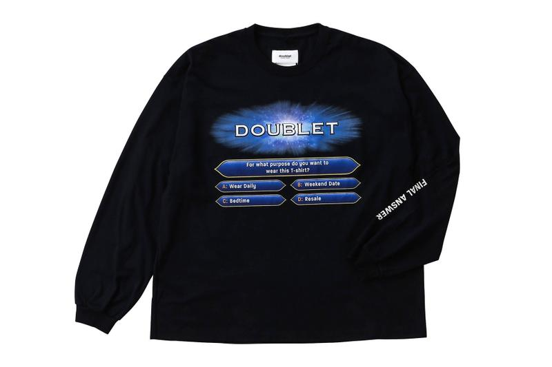 Doublet WISM Graphic Long Sleeves Collaboration who wants to be a millionaire tv show graphics lvmh streetwear japan tokyo pink teal black white purple