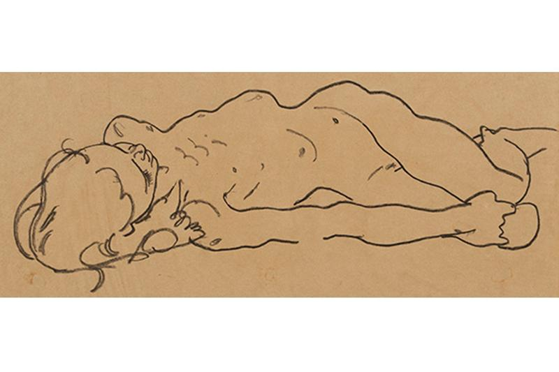 egon schiele reclining nude portrait habitat for humanity