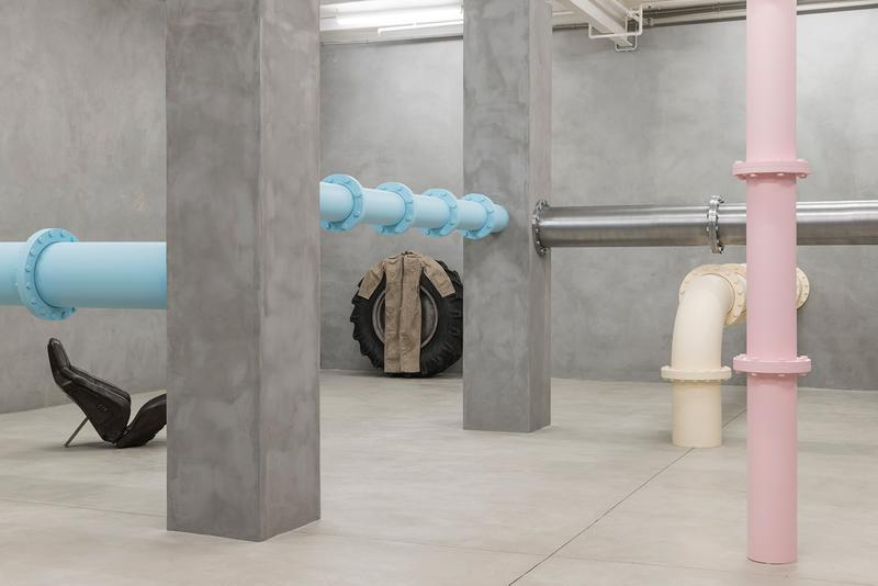 elmgreen dragset its not what you think exhibition blueproject foundation barcelona il salotto gallery artists installation boiler room hiv aids pills pastel colors body metaphor