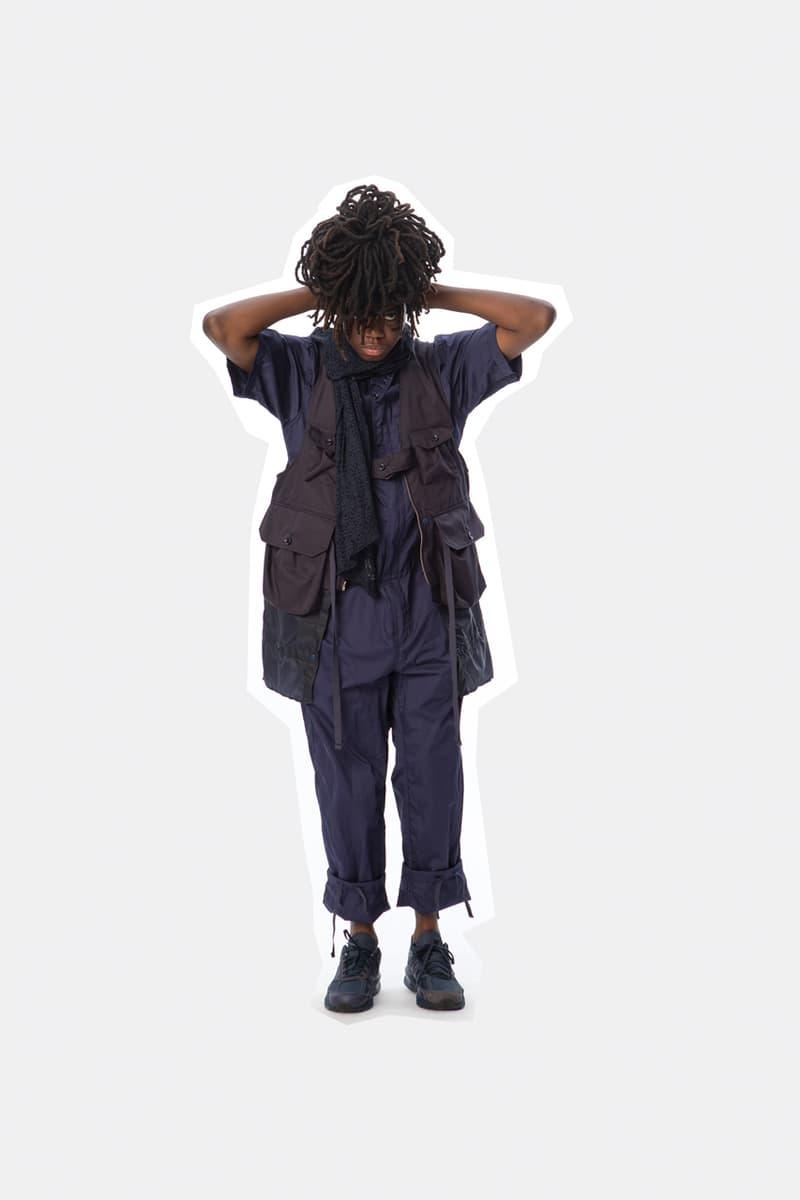 Engineered Garments Spring/Summer 2020 Jackets Pants Dresses Shirts Vests Accessories Floral Patchwork Blue Brown Black Gray Orange Green Beige
