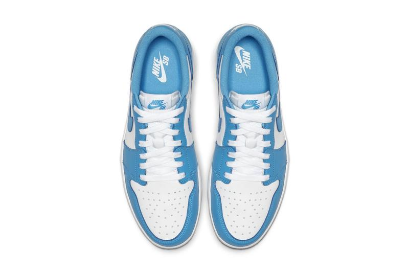 "Eric Koston's Nike SB x Air Jordan 1 Low ""UNC"" Release date official look michael jordan alma mater North Carolina Blue"