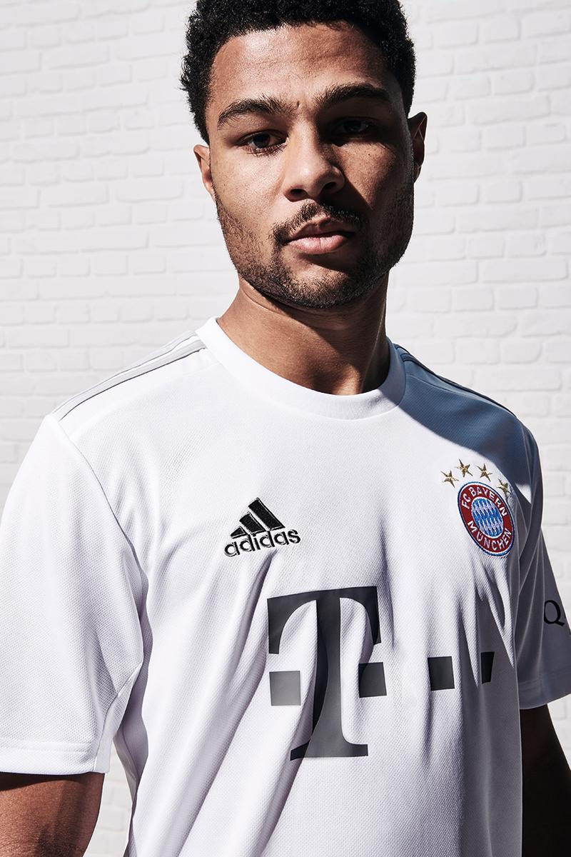 adidas football soccer fc bayern munich germany alaba martinez gnabry release information closer look first buy cop purchase white grey best kits 2019/20 bundesliga season antoine griezmann fc barcelona