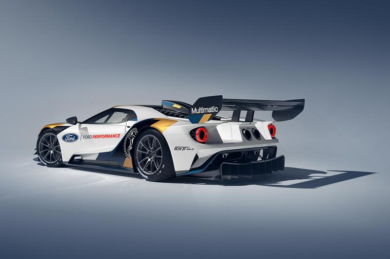 Ford GT MkII $1.2 Million USD Street Race Car Track White Blue Gold