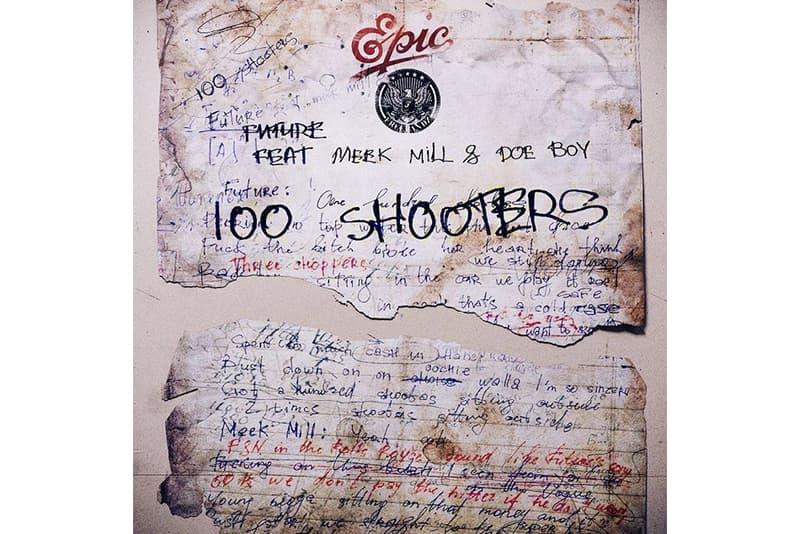 "Future ""100 Shooters"" Feat. Meek Mill & Doe Boy Stream single song listen now spotify apple music future hendrix trap music flute Freebandz/Epic Records hip-hop rap"