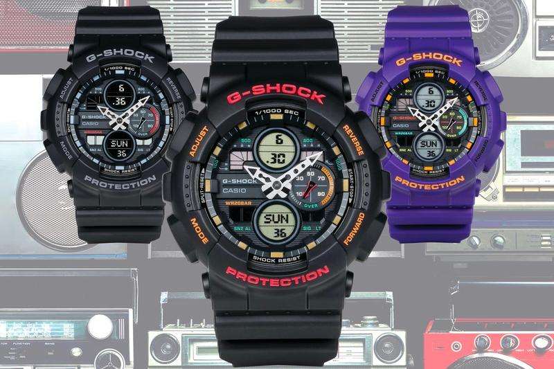 Casio G SHOCK GA140 Series Release Info 90s inspired boombox instruments deep dial watches accessories