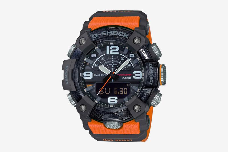 G SHOCK Mudmaster GG B100 Release Info carbon fiber core guard technology altimeter thermometer barometer accelerometer timepiece watches accessories casio