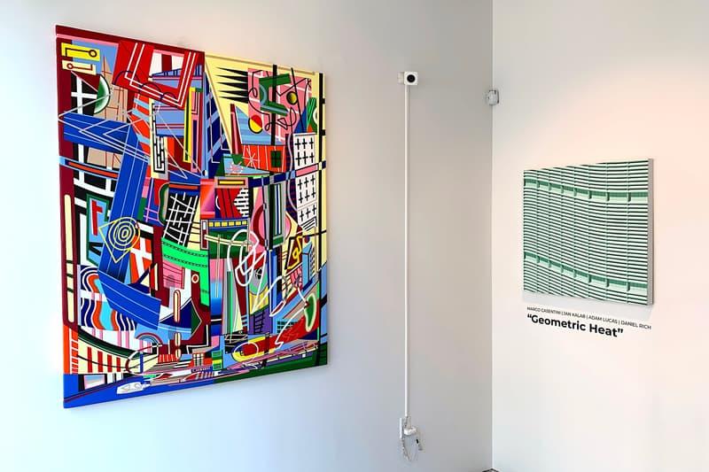 geometric heat gr gallery exhibition adam lucas daniel rich jan kalab artworks paintings marco casentini