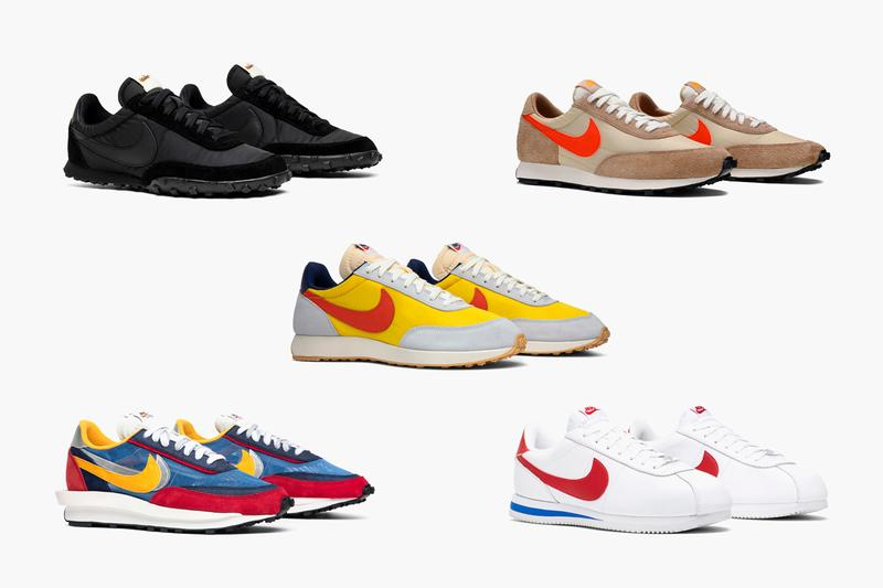 GOAT's Best Retro Nike Running Shoes 2019 Cortez Basic Leather OG 'Forrest Gump' comme des arcons x waffle racer 17 black red white blue scai ldv waffle varsity daybreak sp vegas gold air tailwine 70 tour yellow 80s 90s 70s