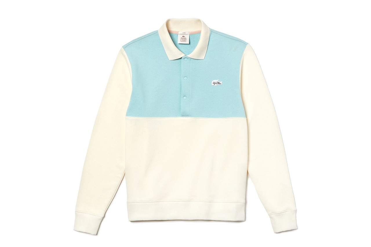 Lacoste and GOLF le FLEUR* SS19 Capsule Collaboration collection spring summer 2019 lookbook wang tyler the creator tracksuit polo shirt shorts tee hat cardigan GOLF le COSTE*