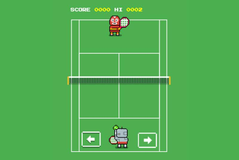 Hidden Google 8 Bit Wimbledon Game Release retro gaming video games tennis djokovic federer pong